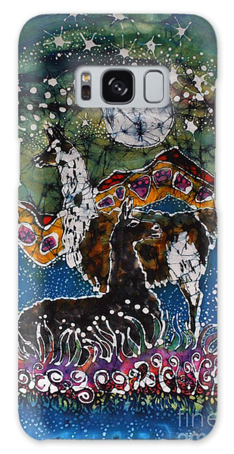 Llamas Galaxy S8 Case featuring the tapestry - textile Hills Alive With Llamas by Carol Law Conklin