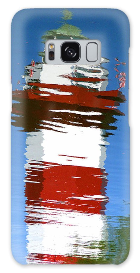 Hilton Head Galaxy S8 Case featuring the photograph Hilton Head Lighthouse Reflection by Duane McCullough
