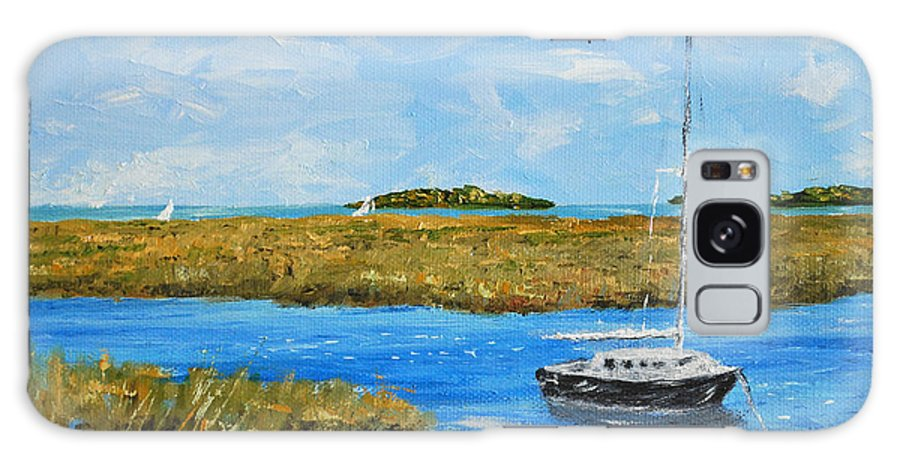 Hilton Head Painting Galaxy S8 Case featuring the painting Hilton Head Mooring by Stanton Allaben