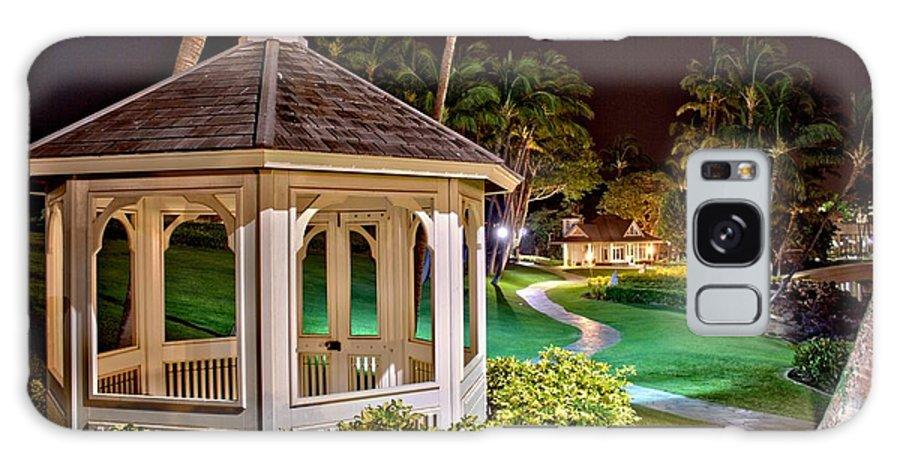 Hilton Galaxy S8 Case featuring the photograph Hilton Waikoloa Village Gazebo by Bob Kinnison