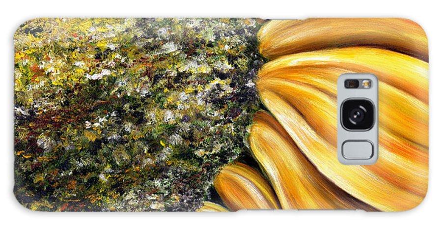 Sun Flower Galaxy S8 Case featuring the painting Himawari by Hiroko Sakai