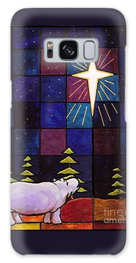 Christmas Galaxy S8 Case featuring the painting Hippo Awe And Wonder by Jim Harris