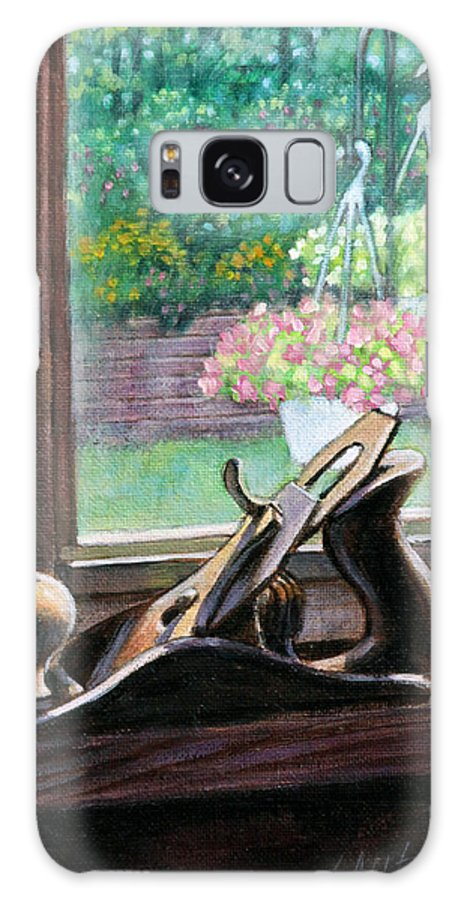 Still Life Galaxy S8 Case featuring the painting His And Her's by John Lautermilch