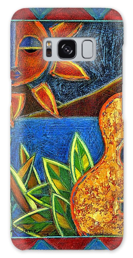 Guitar Galaxy Case featuring the painting Hispanic Heritage by Oscar Ortiz