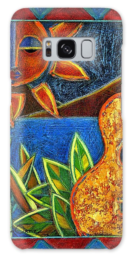 Guitar Galaxy S8 Case featuring the painting Hispanic Heritage by Oscar Ortiz