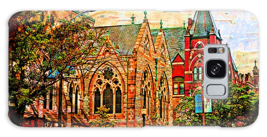 Architecture Galaxy S8 Case featuring the photograph Historic Churches St Louis Mo - Digital Effect 6 by Debbie Portwood