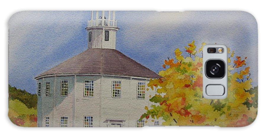 Richmond Galaxy Case featuring the painting Historic Richmond Round Church by Mary Ellen Mueller Legault