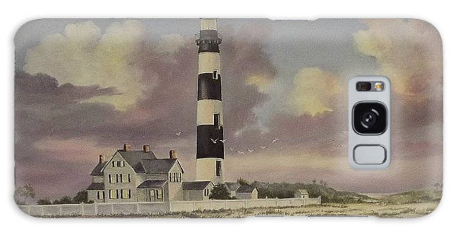 Lighthouse Galaxy S8 Case featuring the painting History Of Morris Lighthouse by Wanda Dansereau