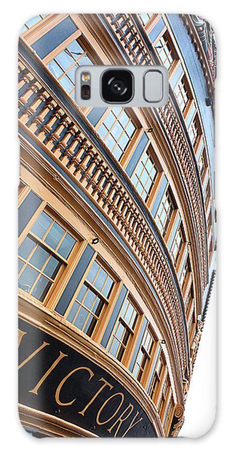 Hms Victory Galaxy S8 Case featuring the photograph Hms Victory by Graham Custance