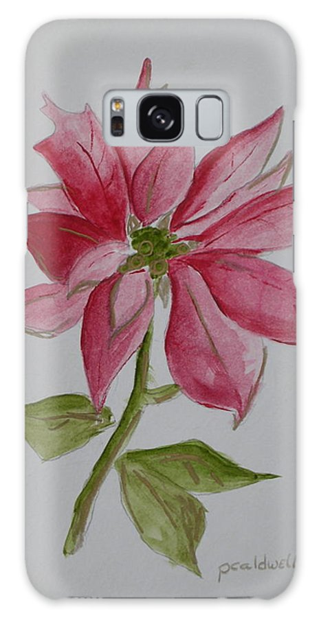 Flower Christmas Galaxy S8 Case featuring the painting Holiday Flower by Patricia Caldwell