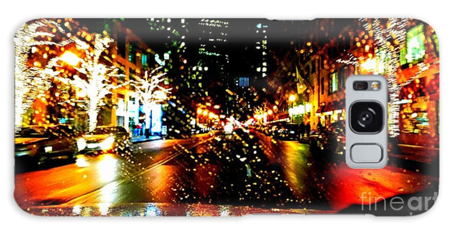 Holiday Light In Boston. Christman Light. Trees Decor. Photograph. Building. Stree Of Holiday. Greeting Cards. Rose Wang Image. Rose Wang Art. Custome Order. Landscape Go Holiday. Galaxy S8 Case featuring the photograph Holiday Light by Rose Wang