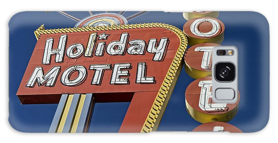 Vegas Galaxy S8 Case featuring the photograph Holiday Motel Las Vegas by Edward Fielding