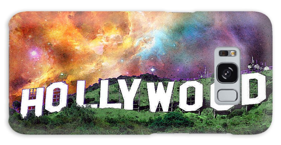 Hollywood Galaxy S8 Case featuring the painting Hollywood - Home Of The Stars By Sharon Cummings by Sharon Cummings