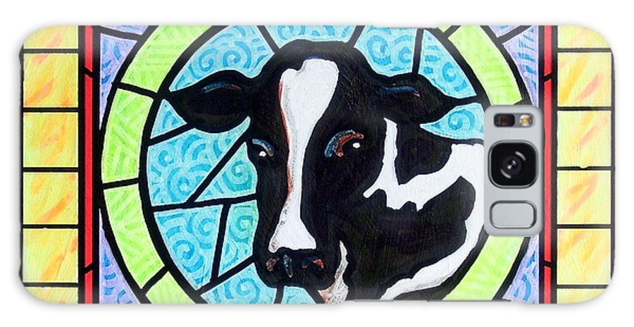 Cattle Galaxy S8 Case featuring the painting Holstein 4 by Jim Harris