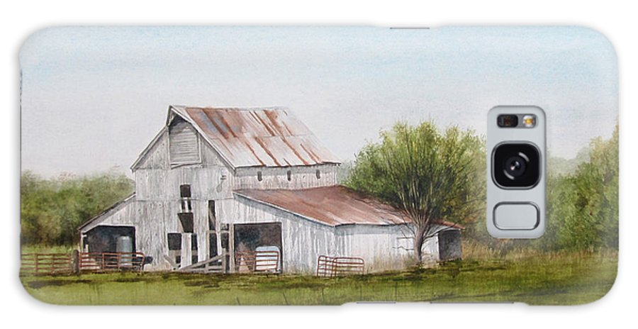 Midwest Farm Scene Galaxy S8 Case featuring the painting Holt Barn by Denny Dowdy