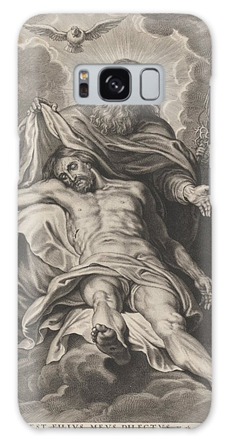 God Galaxy S8 Case featuring the drawing Holy Trinity And Angels With Instruments Of The Passion by Schelte Adamsz. Bolswert And Gillis Hendricx