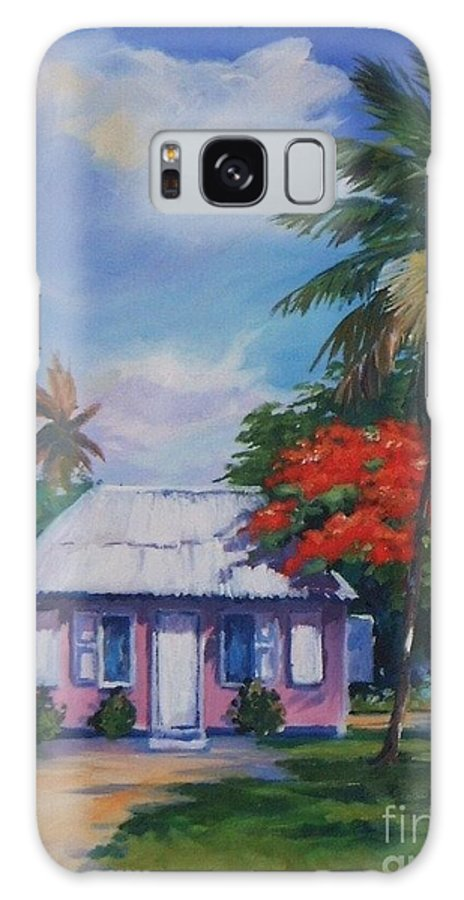 Tall Tree Galaxy S8 Case featuring the painting Home At Tall Tree  Savannah by John Clark