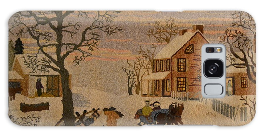 Currier And Ives Galaxy S8 Case featuring the photograph Home For The Holidays by Marjorie Tietjen