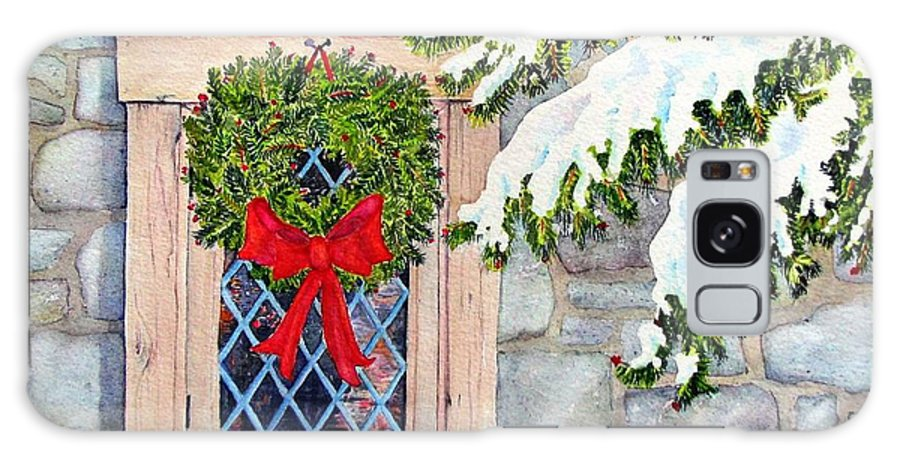 Holidays Galaxy Case featuring the painting Home For The Holidays by Mary Ellen Mueller Legault