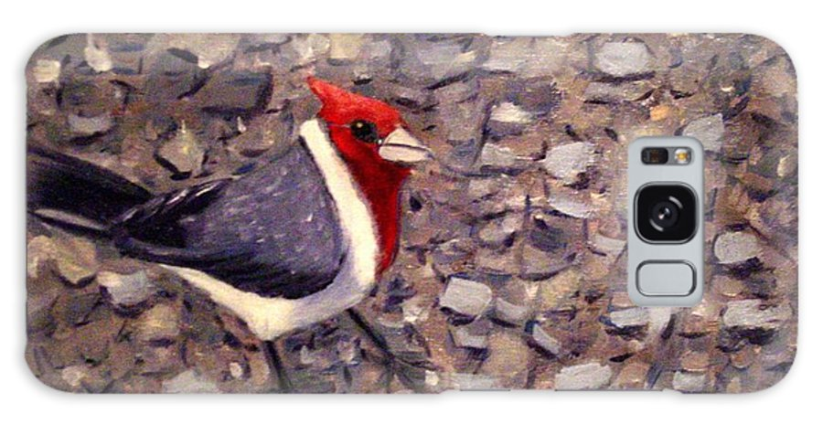 Bird Galaxy Case featuring the painting Home Turf by Laurie Morgan
