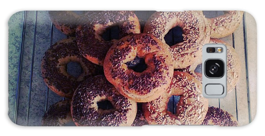 Flax Seed Galaxy Case featuring the photograph Homemade Bagels by Lasse Kristensen