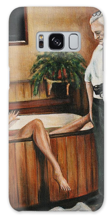 Homicide Photographer Galaxy S8 Case featuring the painting Homicide Photographer by Melinda Saminski