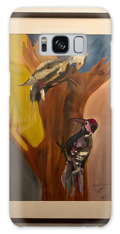 Conceptual Art Galaxy S8 Case featuring the painting Hommy by Pooja Chauhan