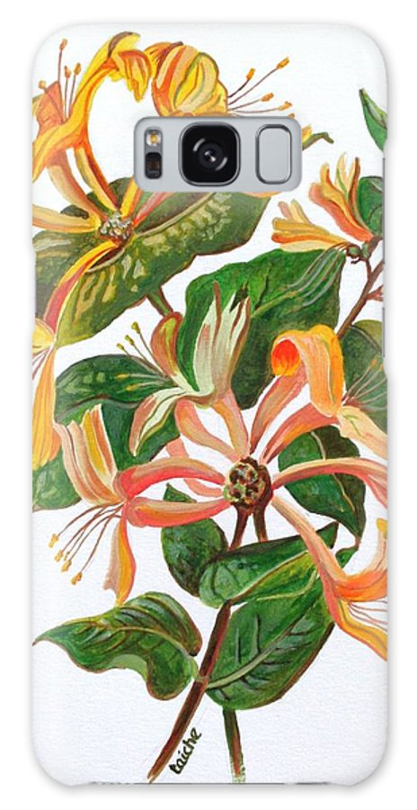 Honeysuckles Galaxy S8 Case featuring the painting Honeysuckle by Taiche Acrylic Art