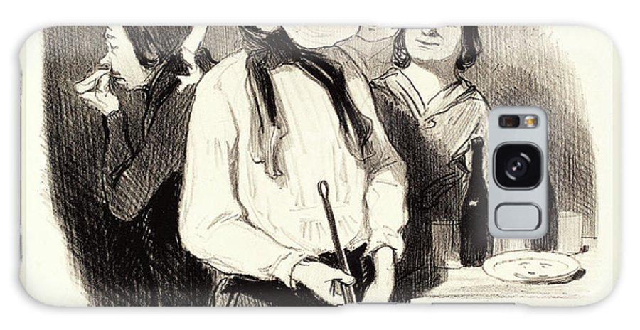 Honoré Daumier Galaxy S8 Case featuring the drawing Honoré Daumier French, 1808-1879, Les Crêpes by Litz Collection
