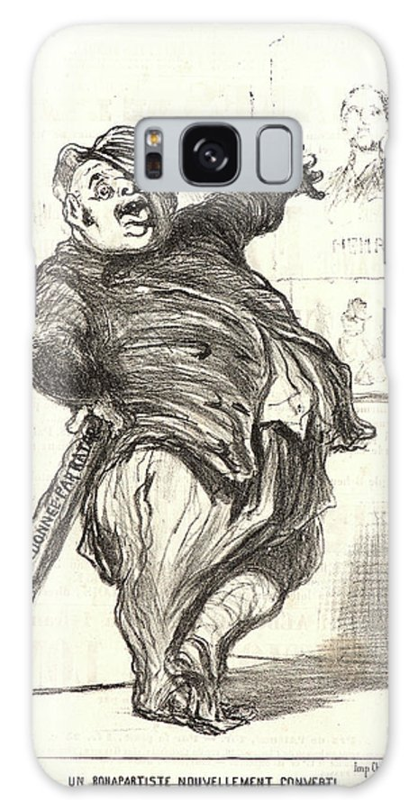 Honoré Daumier Galaxy S8 Case featuring the drawing Honoré Daumier French, 1808 - 1879. Un Bonapartiste by Litz Collection