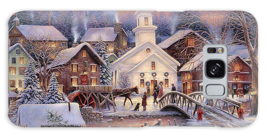 Snow Village Galaxy S8 Case featuring the painting Hope Runs Deep by Chuck Pinson