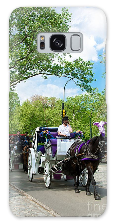 Central Park Galaxy S8 Case featuring the photograph Horse And Carriages Central Park by Amy Cicconi