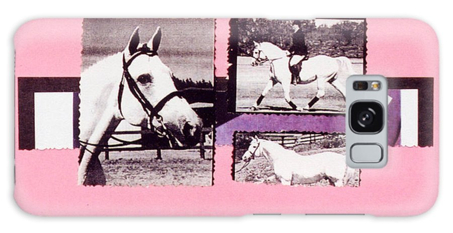 Horses Galaxy S8 Case featuring the photograph Horse And Rider C by Mary Ann Leitch
