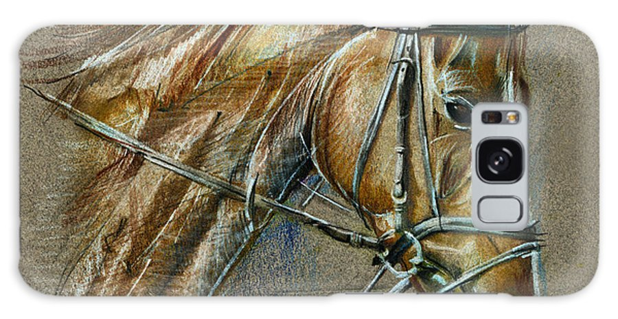 Horse Galaxy S8 Case featuring the drawing My Horse Face Drawing by Daliana Pacuraru