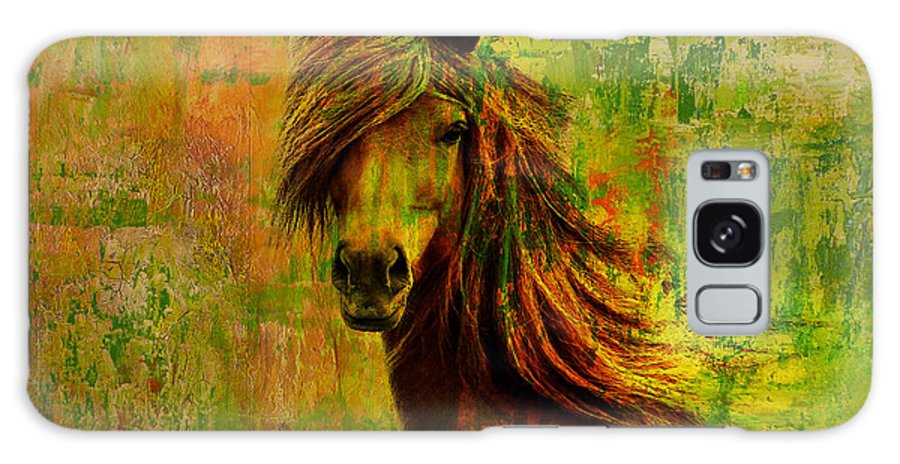 Horse Galaxy S8 Case featuring the painting Horse Paintings 001 by Catf