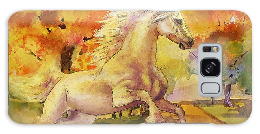 Horse Galaxy S8 Case featuring the painting Horse Paintings 003 by Catf