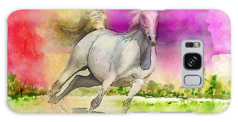 Horse Galaxy S8 Case featuring the painting Horse Paintings 007 by Catf