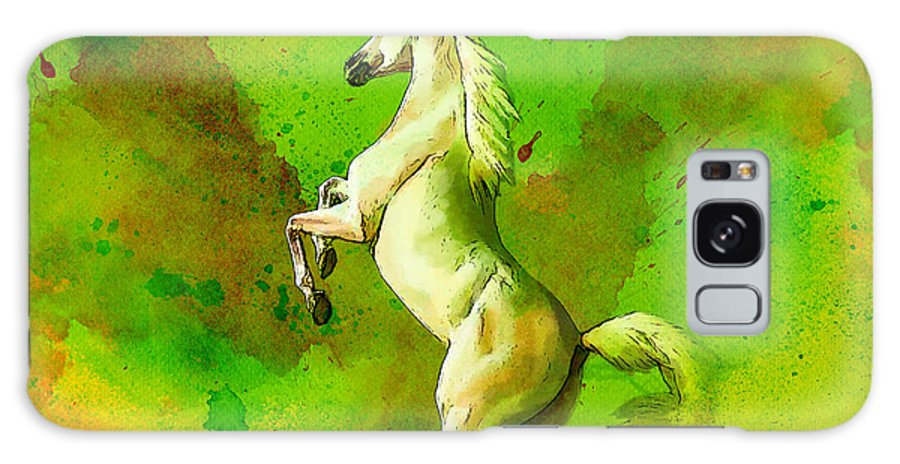 Horse Galaxy S8 Case featuring the painting Horse Paintings 010 by Catf