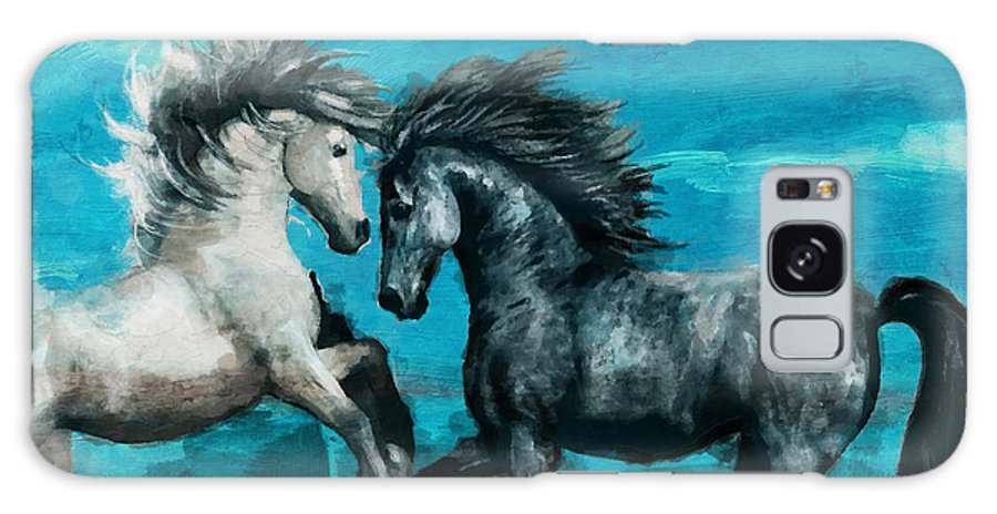 Horse Galaxy S8 Case featuring the painting Horse Paintings 011 by Catf