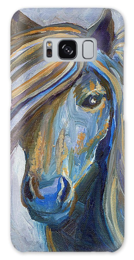 Horses Galaxy S8 Case featuring the painting Horse Portrait 102 by Linda Mears
