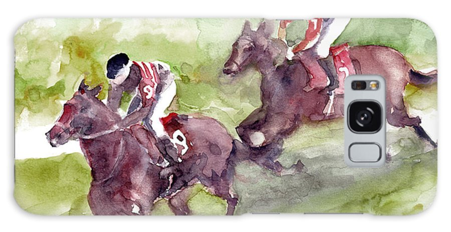 Horse Galaxy S8 Case featuring the painting Horse Racing by Faruk Koksal