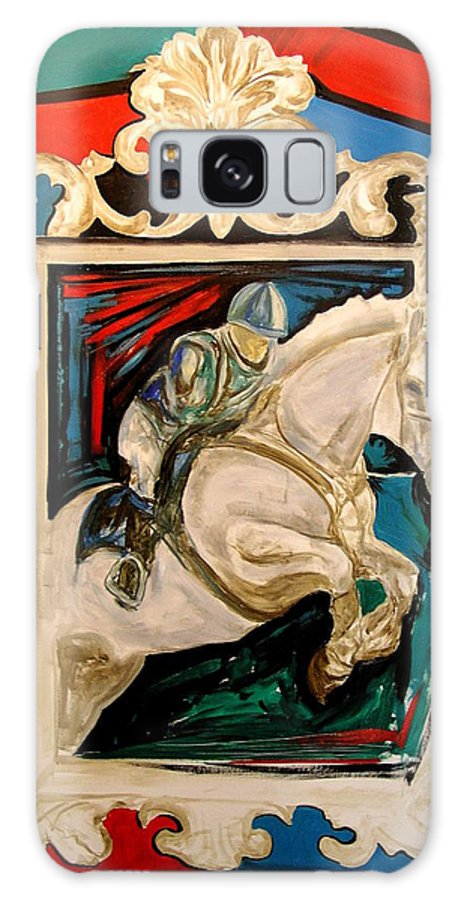 Horse Galaxy S8 Case featuring the painting Horse by S-Roven Zokos