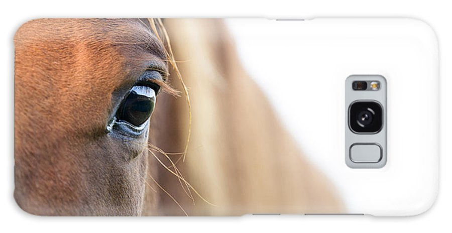 Highkey Galaxy S8 Case featuring the photograph Horses Eye by Andy-Kim Moeller