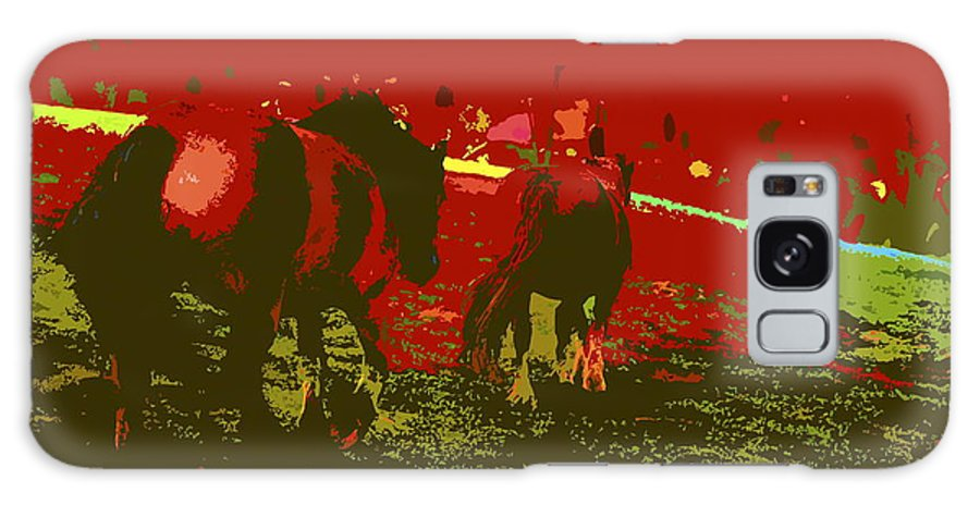 Horse Galaxy S8 Case featuring the digital art Horses In The Spanish Pyrenees by Ronald Jansen