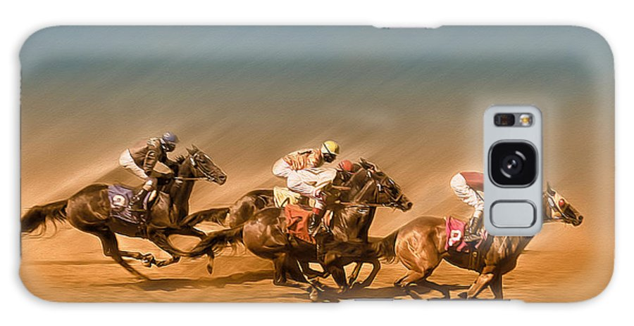 Horses Galaxy S8 Case featuring the photograph Horses Racing To The Finish Line by Eduardo Tavares