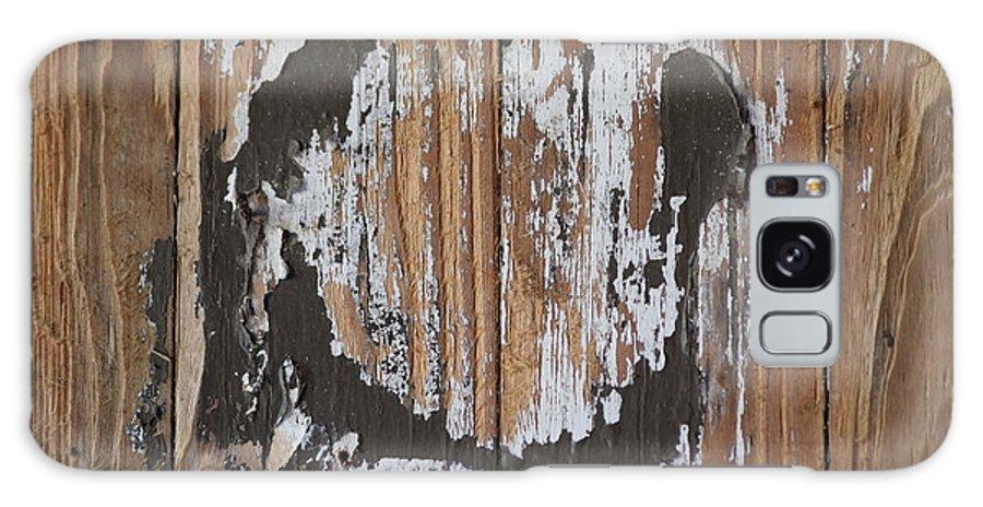 Horseshoe Galaxy S8 Case featuring the photograph Horseshoe Print Wood by Sheri McLeroy