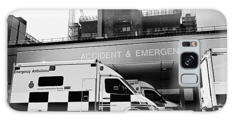 Accident Galaxy S8 Case featuring the photograph hospital accident and emergency entrance with ambulances London England UK by Joe Fox