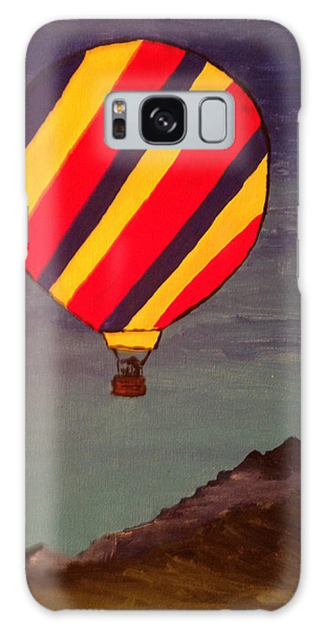 Hot Air Balloon Galaxy S8 Case featuring the painting Hot-air by Patricia Stone
