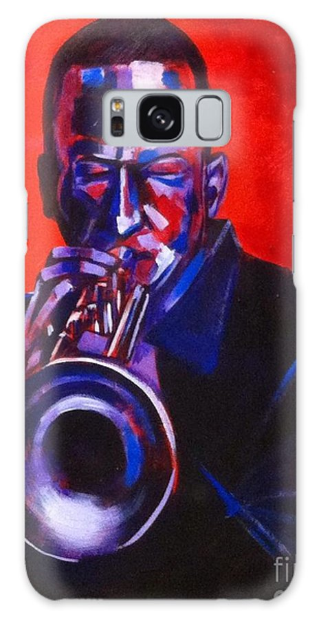 Jazz Galaxy S8 Case featuring the painting Hot Jazz by Andrew Wilkie