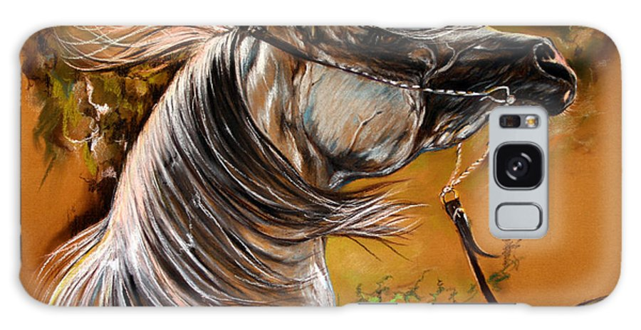 Horse Galaxy S8 Case featuring the drawing Hot Temper by Angel Ciesniarska